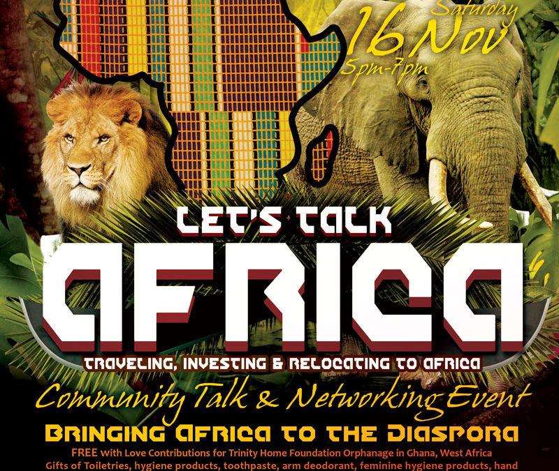 """Let's Talk Africa"" Community Talk & Networking Event, Dania, FL"